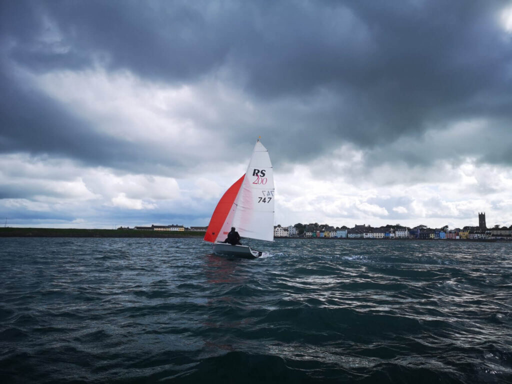 RS200 sailing on the water